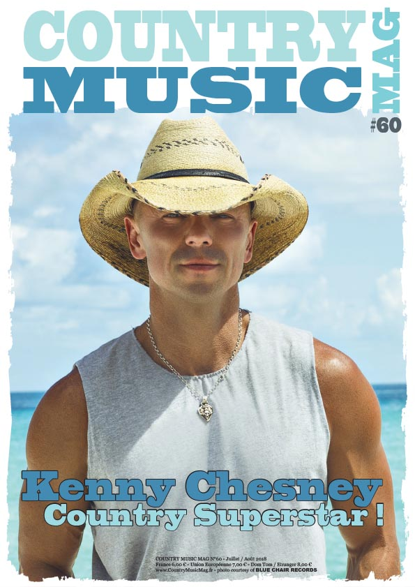 Kenny Chesney on cover of Country Music Mag, France 60th issue