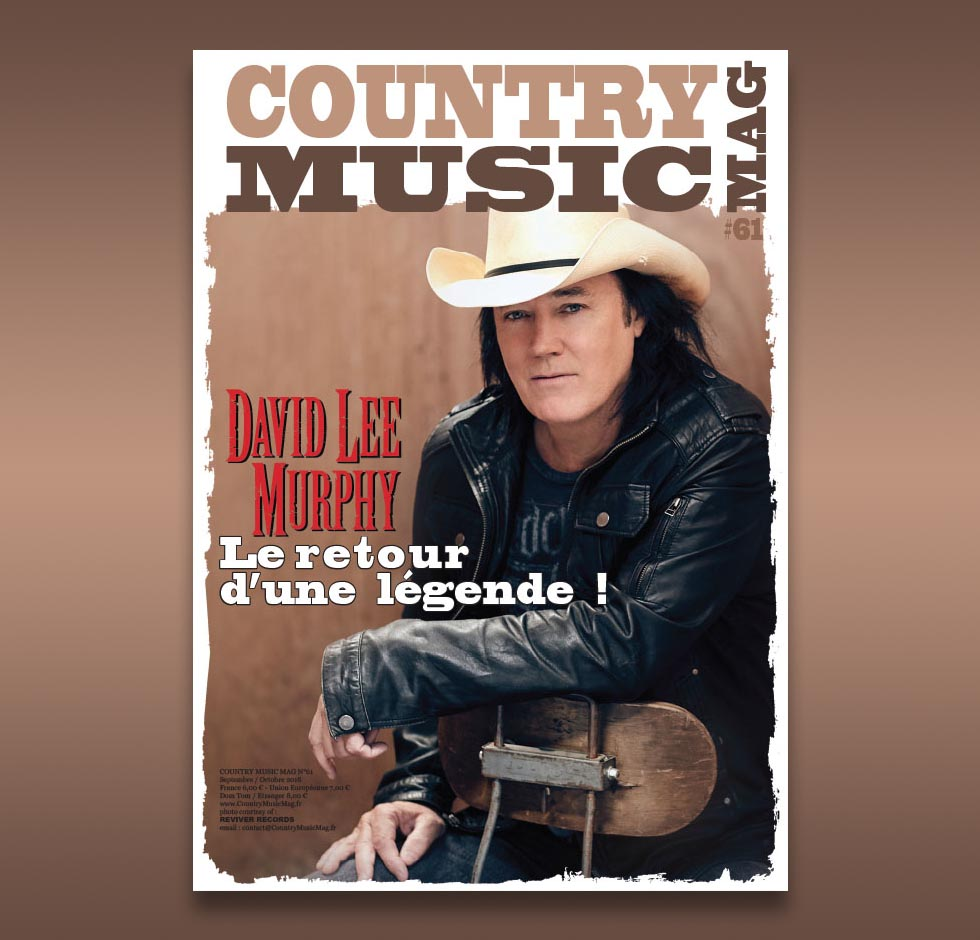 David Lee Murphy on Country Music Mag, France 61st issue